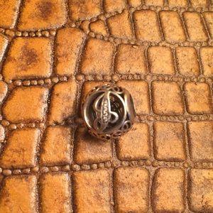 "Pandora ALE 925 Silver ""J"" bead"